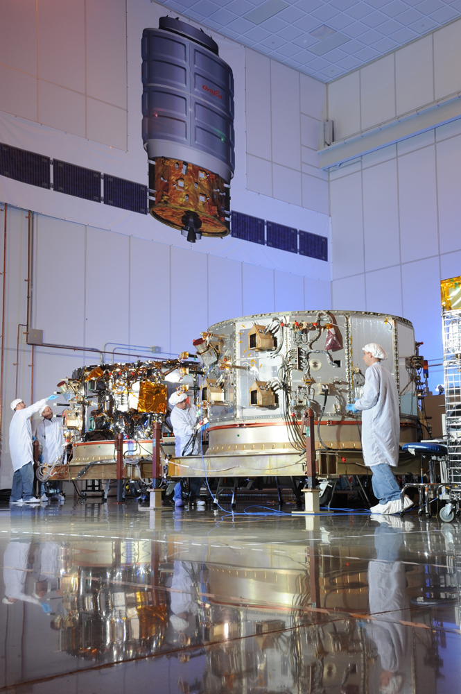 Two Cygnus Service Modules in Orbital's Dulles, VA Satellite Manufacturing Facility