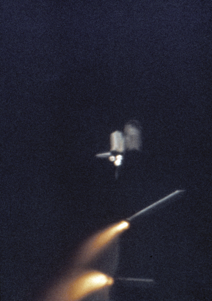 STS-1 Mission Solid Rocket Boosters Jettisoned