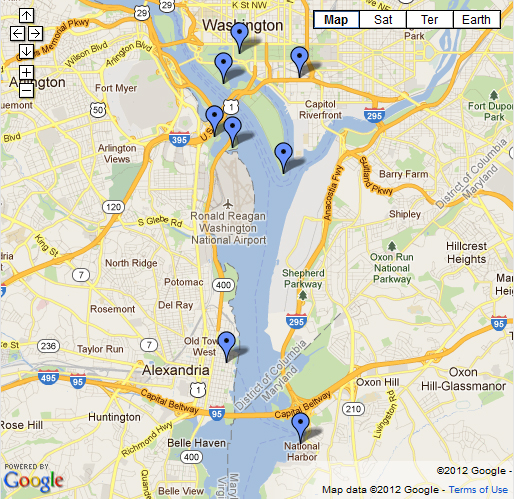 Discovery Flyover Best Viewing Sites Map