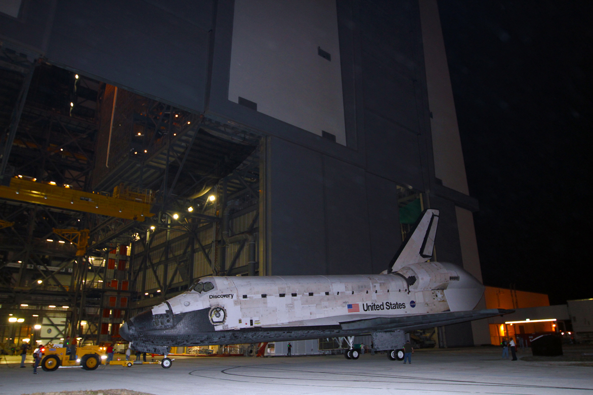 Discovery Completes 3-Point Turn