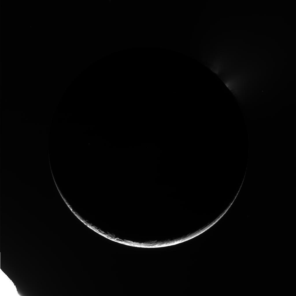 Dark Enceladus Arc