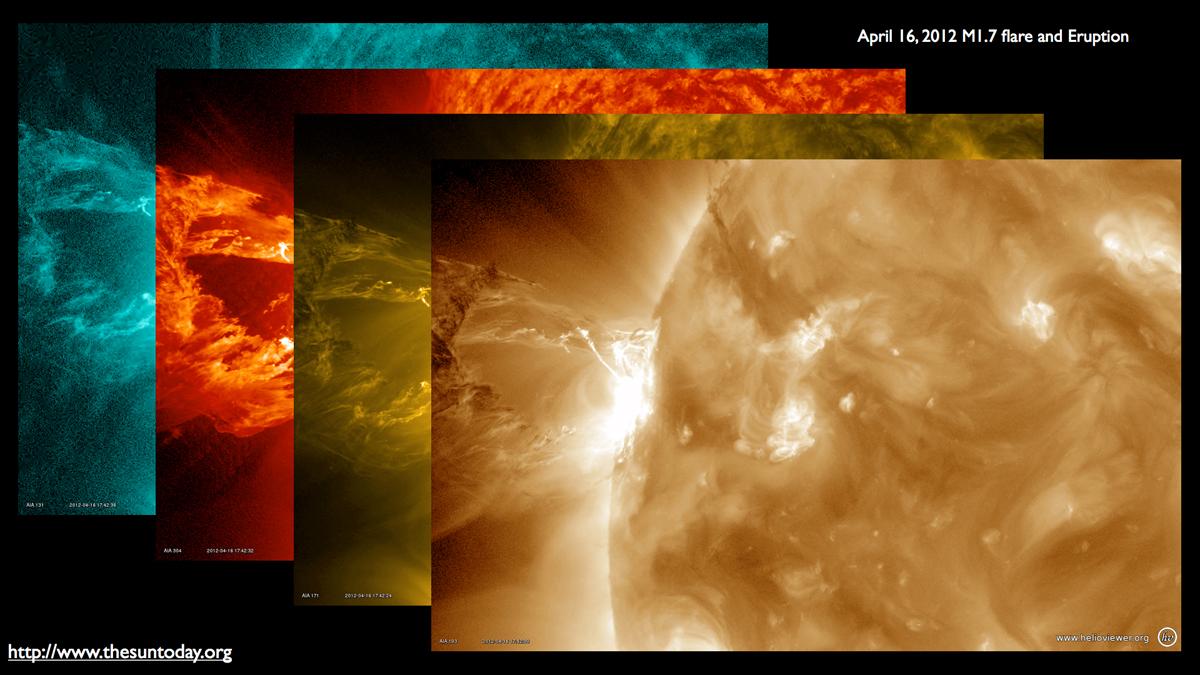 Solar Flare, April 16, 2012