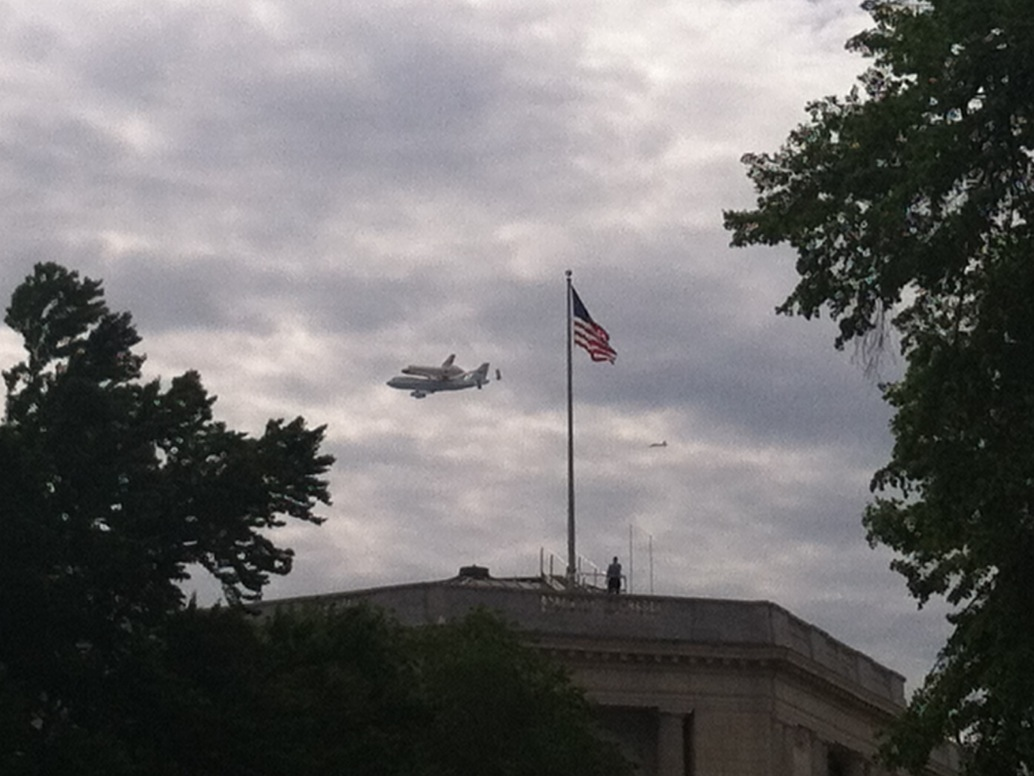 SCA Ferries Discovery Above the Cannon House Office Building