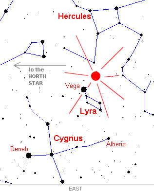 Lyrid Meteors Map