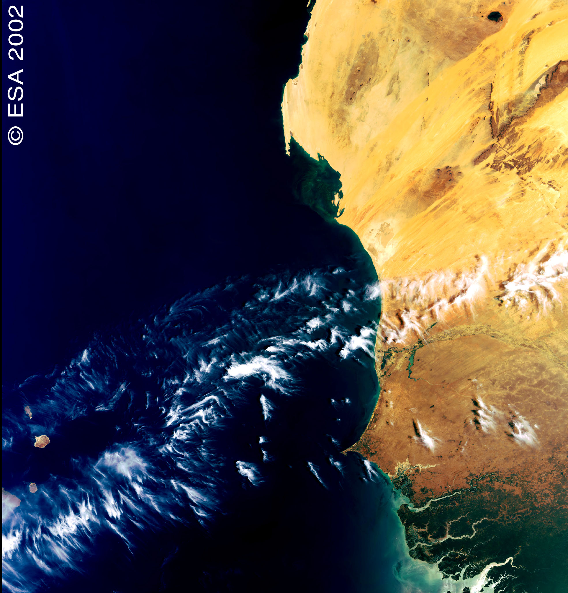 West Coast of Africa - First MERIS image
