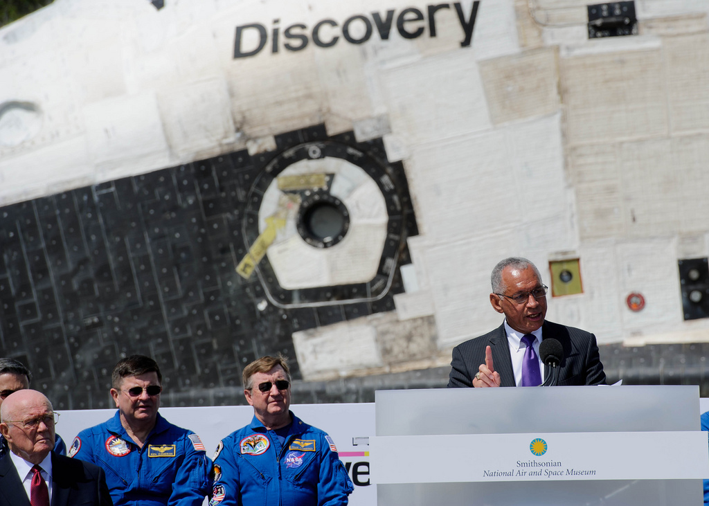NASA's Charles Bolden Addresses the Crowd