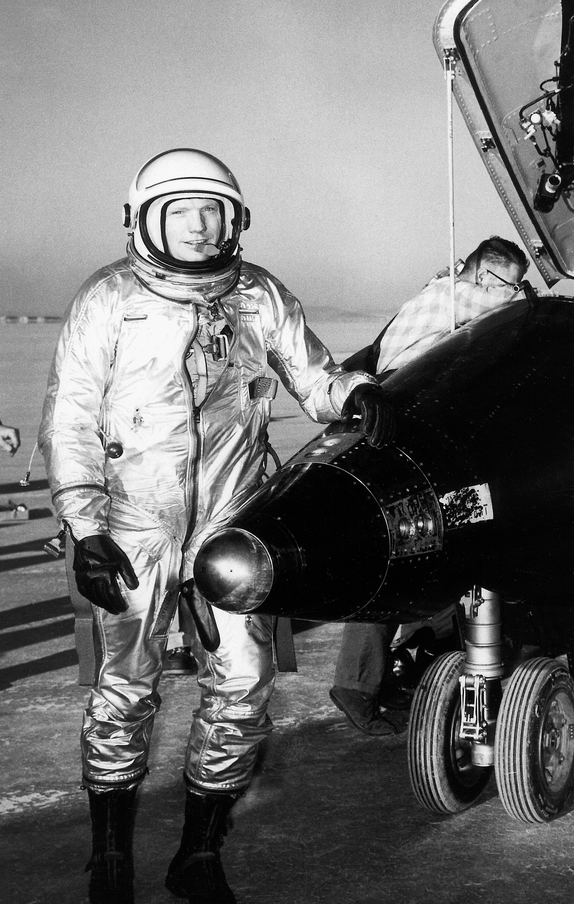 Space History Photo: Pilot Neil Armstrong with X-15