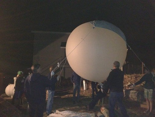 Lyrid Meteor Shower 2012: Balloon Launch