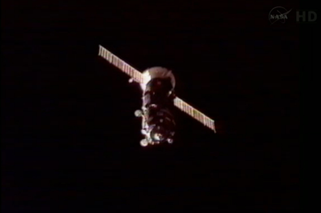 Russian Robotic Supply Ship Docks at Space Station