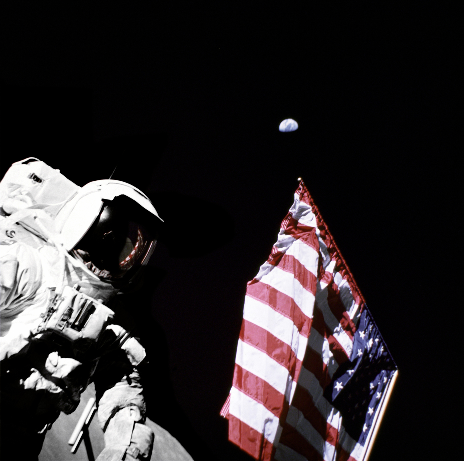 Space History Photo: Apollo 17 Astronaut Harrison Schmitt on the Moon