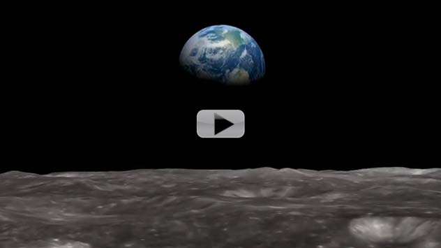 Famous First Earth-Rise Over Moon Re-Created - Orbiter Data Video