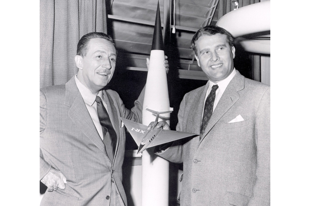 Space History Photo: Walt Disney and Wernher von Braun