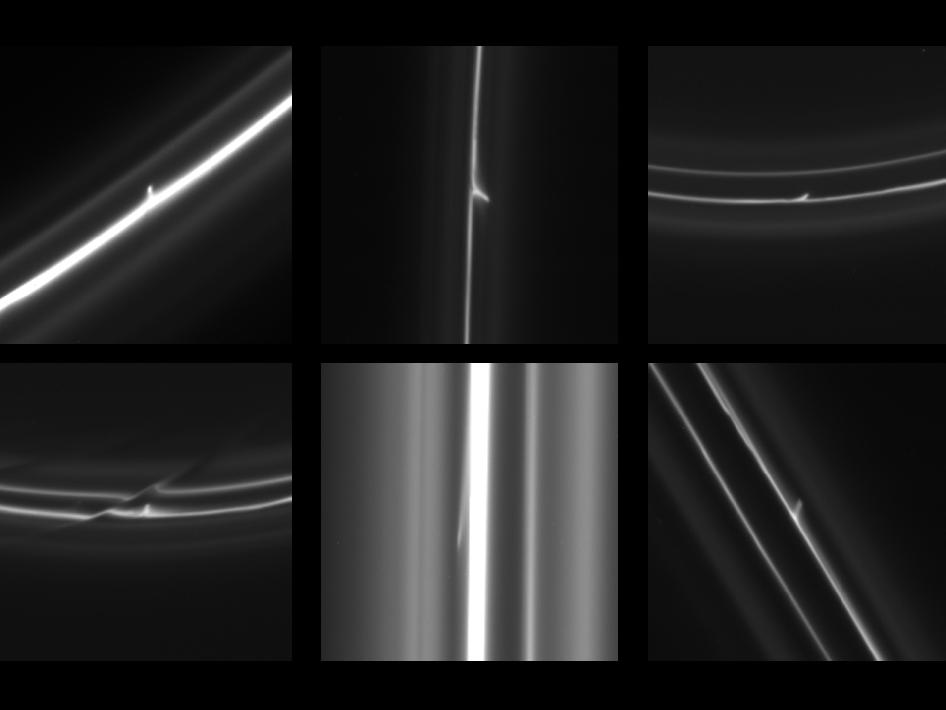 Trails in Saturn's F Ring
