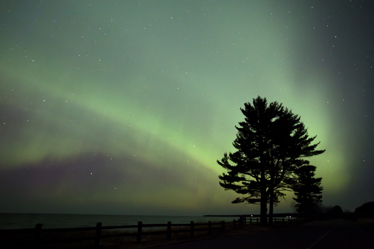 April 2012 Aurora over Lake Superior