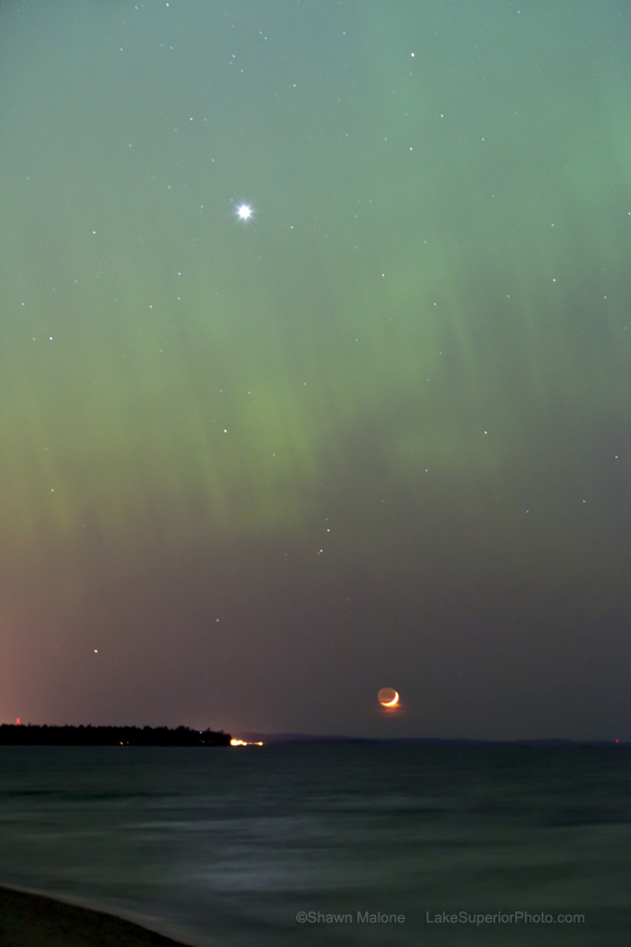 April 2012 Aurora over Lake Superior #2