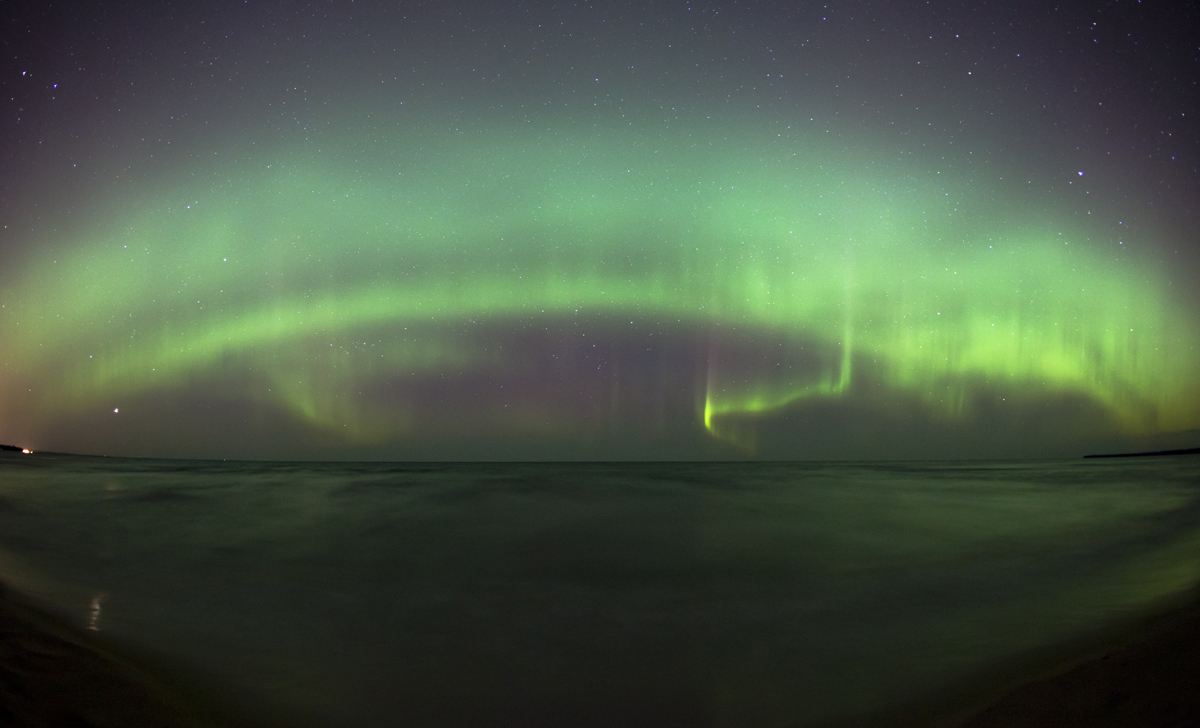 April 2012 Aurora over Lake Superior #3