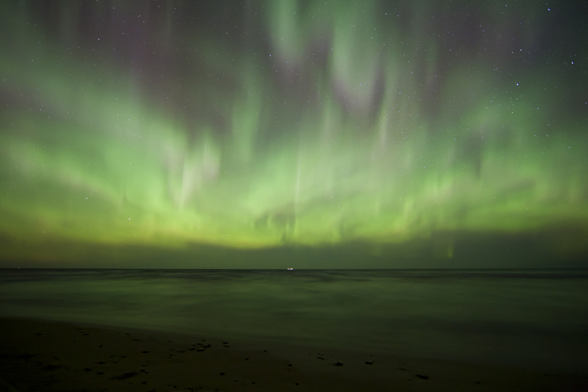 April 2012 Aurora over Lake Superior #4