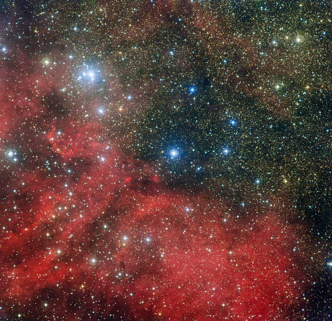 Dazzling Photo Reveals Bright Young Star Cluster Inside Cosmic Serpent