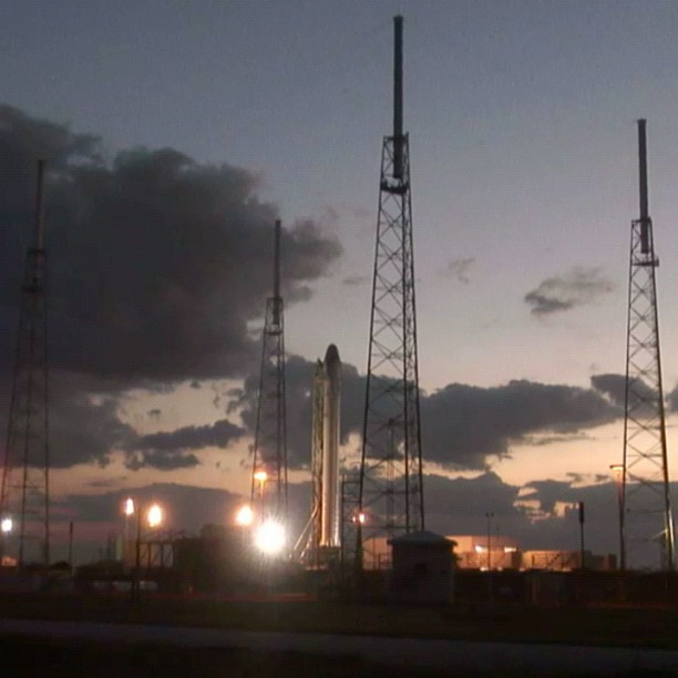 SpaceX Falcon 9 at Launch Pad