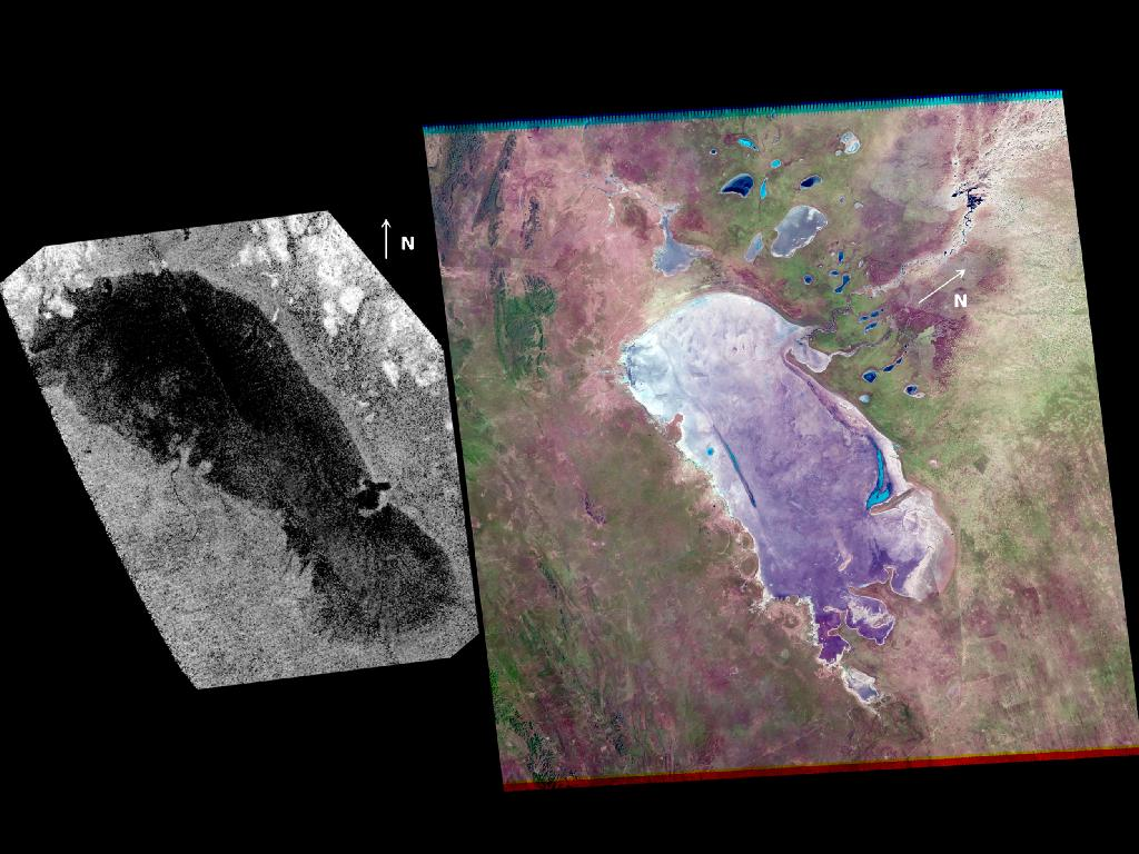 Huge Lake on Saturn's Moon Titan Acts Like Earth's Mudflats