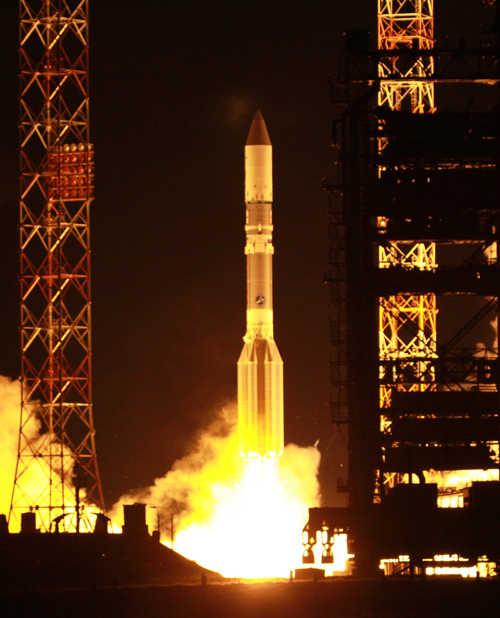 Russian Rocket Successfully Launches New Communications Satellite