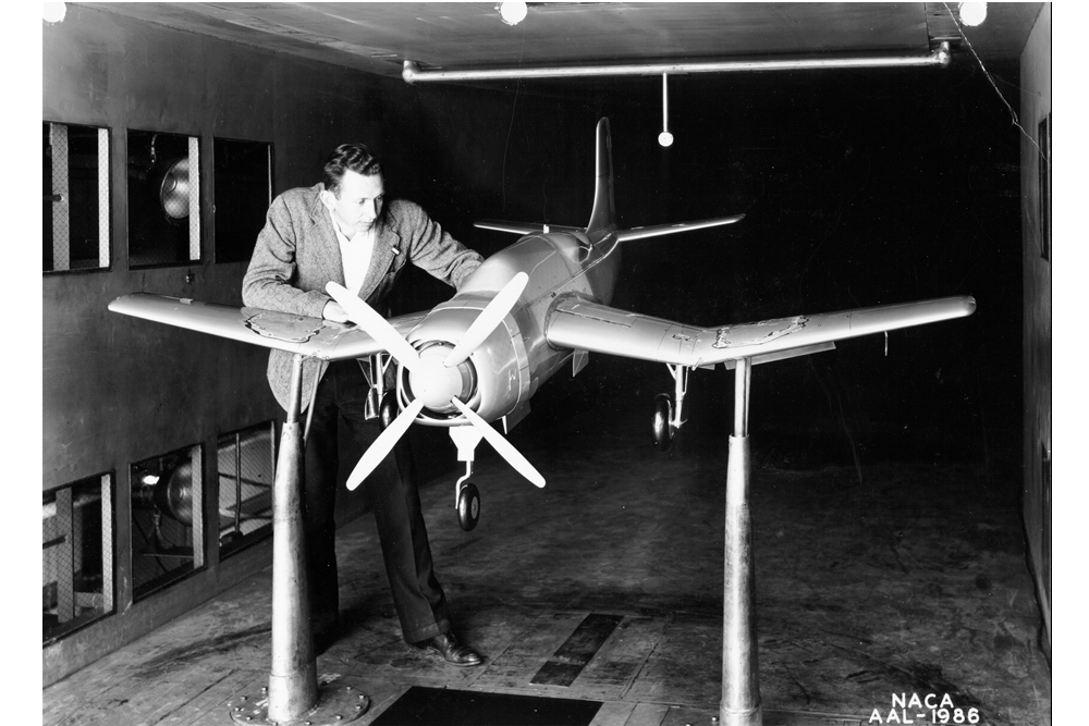 Space History Photo: 1942 Wind Tunnel Test