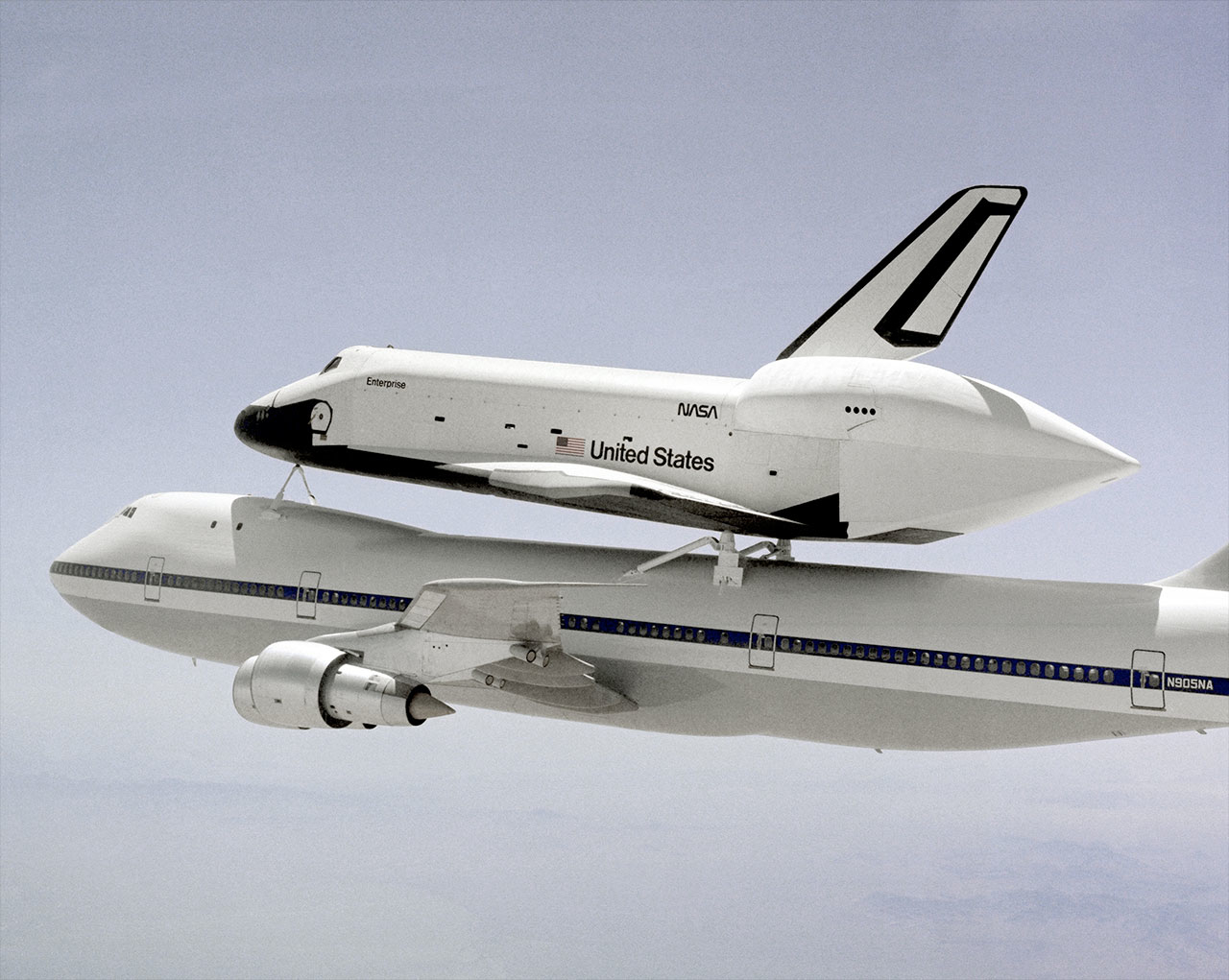 Space Shuttle Enterprise Takes Off for NYC on Final Flight