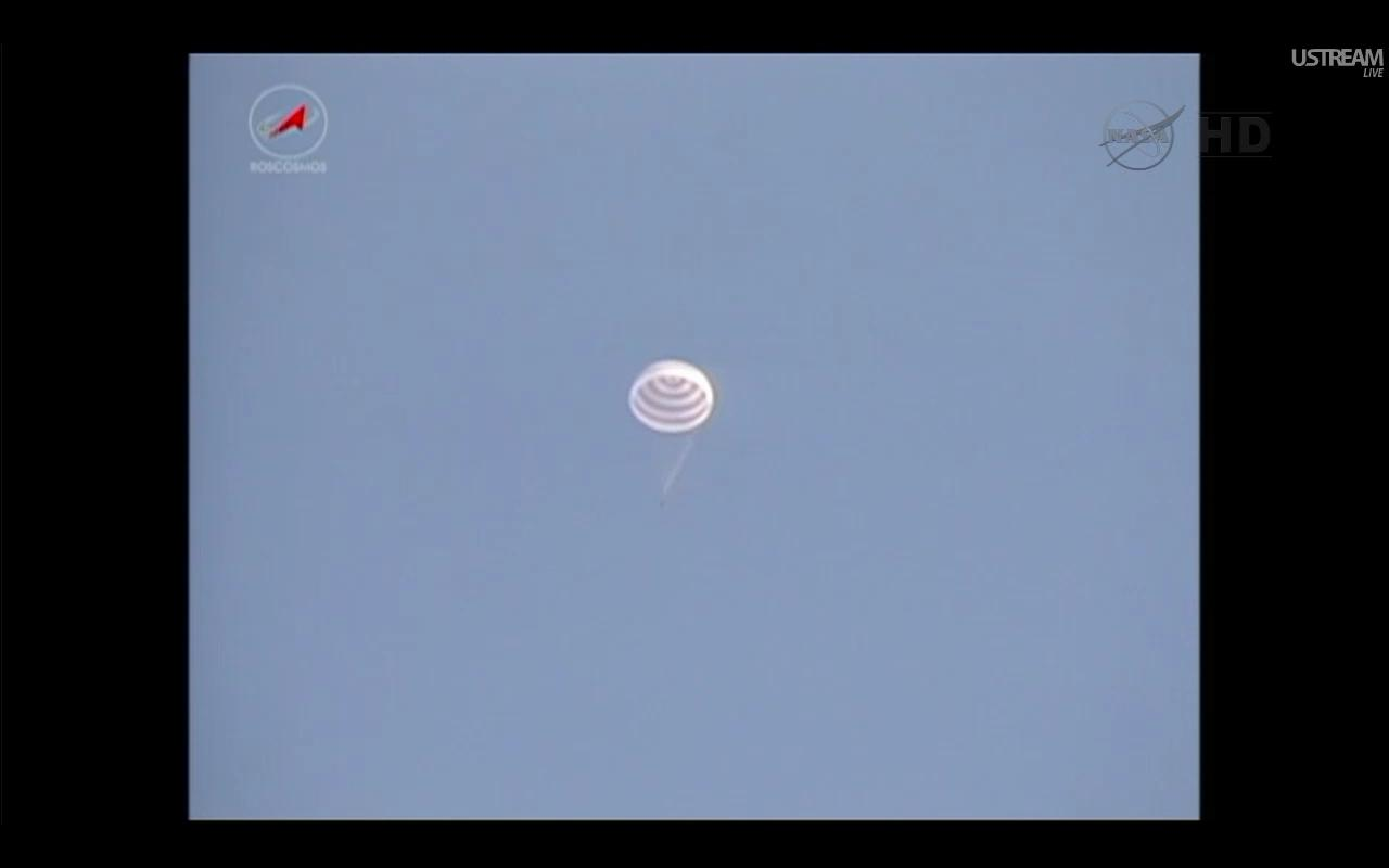 Soyuz Space Capsule Lands Safely with U.S.-Russian Crew