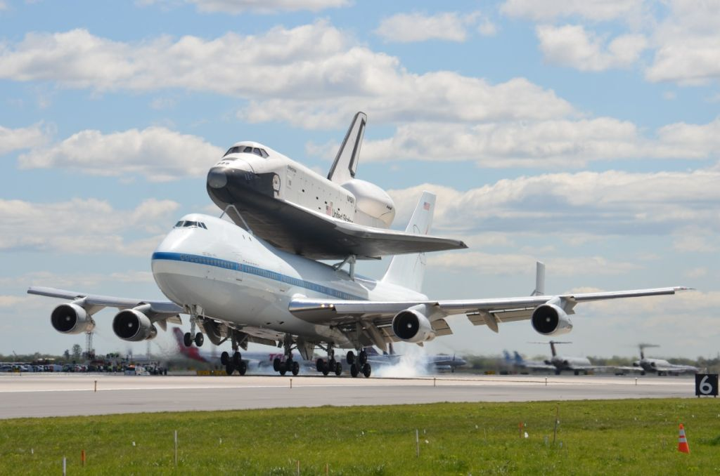 Shuttle Enterprise Touches Down in New York