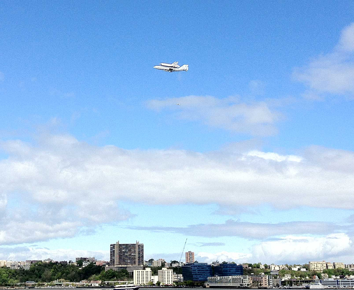 Shuttle Enterprise as Seen from Chelsea Piers, Manhattan
