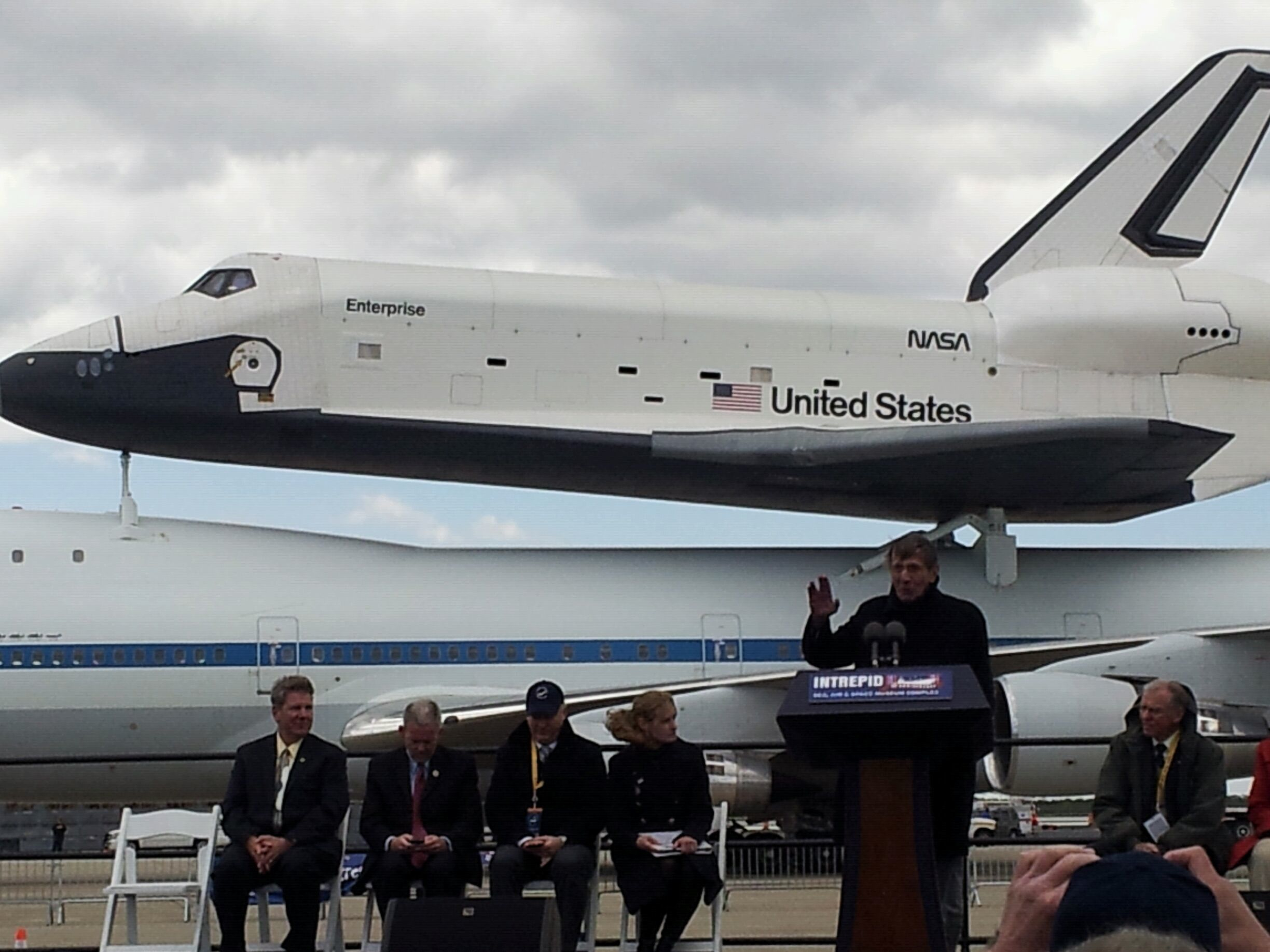 Leonard Nimoy to Shuttle Enterprise: 'Live Long and Prosper' in NYC