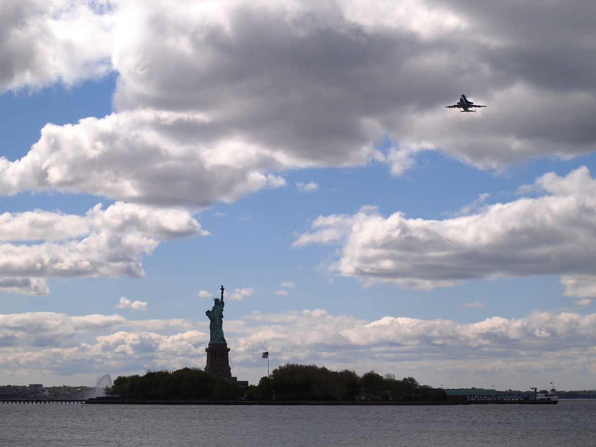 Enterprise and SCA Fly Above the Statue of Liberty