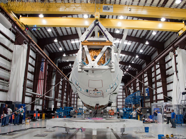 Dragon Spacecraft Mated to Falcon 9 Rocket