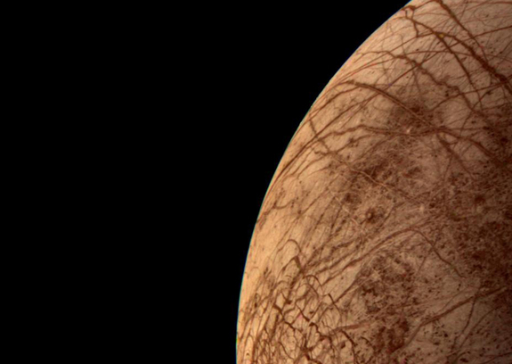 This color image of the Jovian moon Europa was acquired by Voyager 2 during its close encounter on  July 9, 1996.