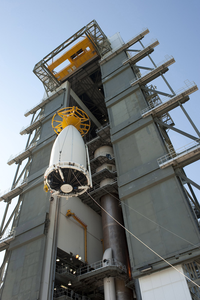 AEHF-2 Satellite Encapsulated in Payload Fairing
