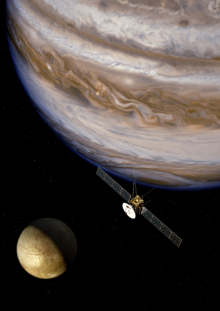 Europe to Explore Jupiter's Icy Moons with JUICE Spacecraft