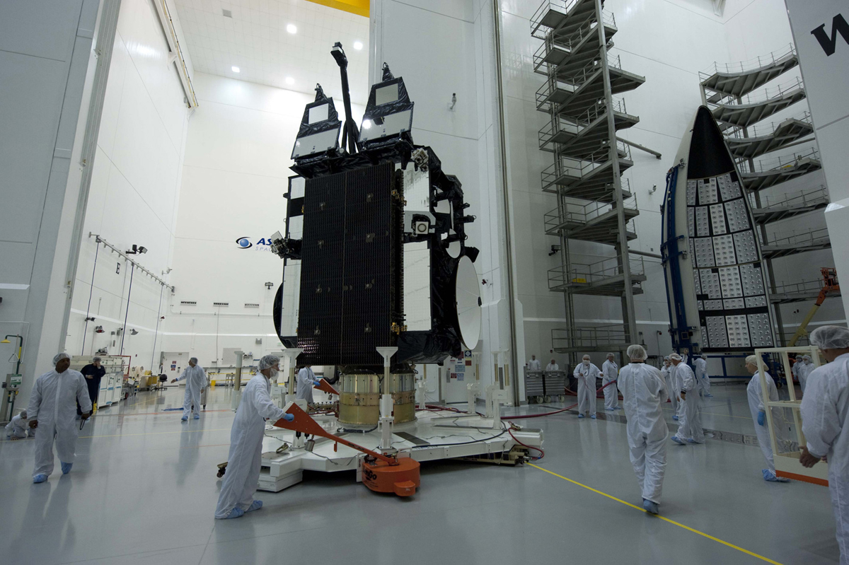 AEHF-2 Satellite Mated to Atlas 5 #3