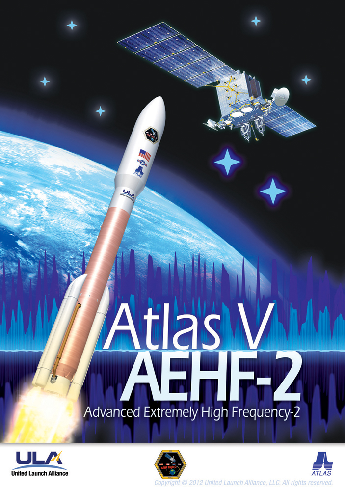 The Second Advanced Extremely High Frequency Satellite Poster