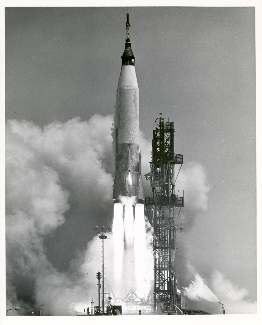 Space History Photo: Mercury-Atlas Test Launch Failure