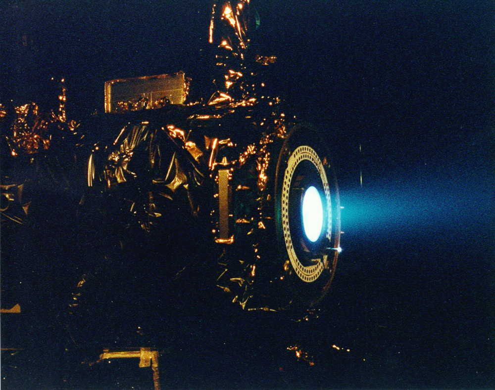 Space History Photo: Ion Engine Test Firing