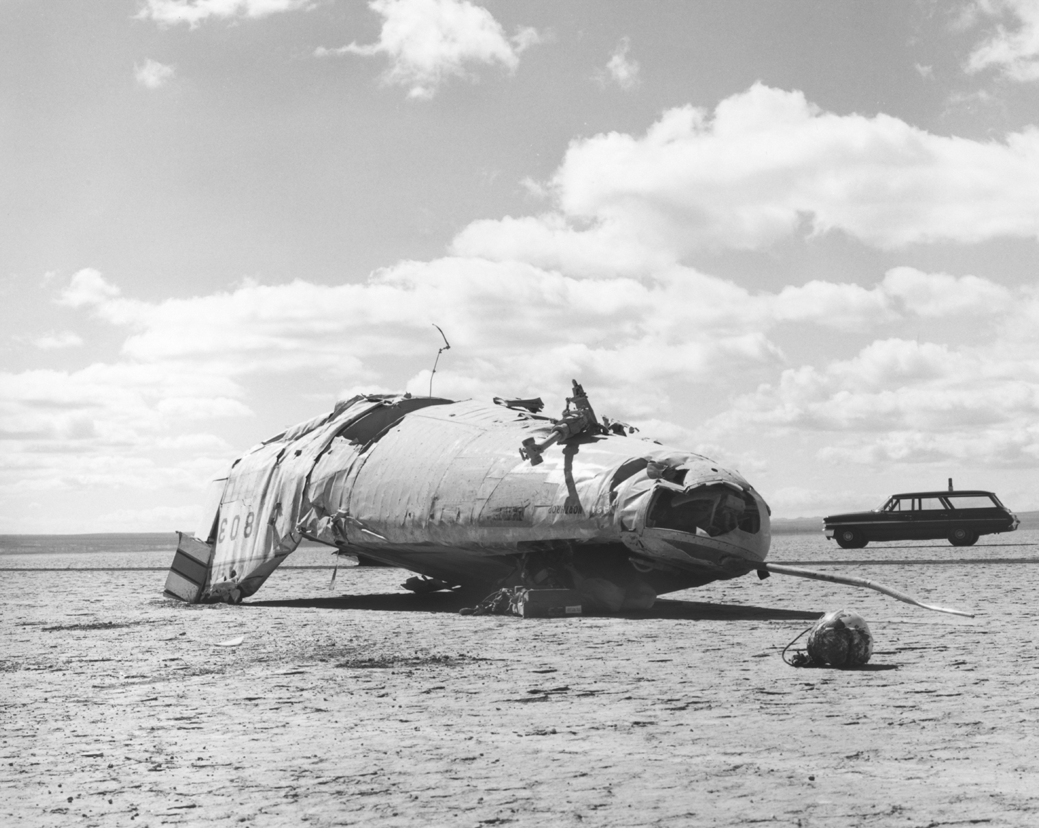Space History Photo: M2-F2 Crash on Rogers Dry Lake