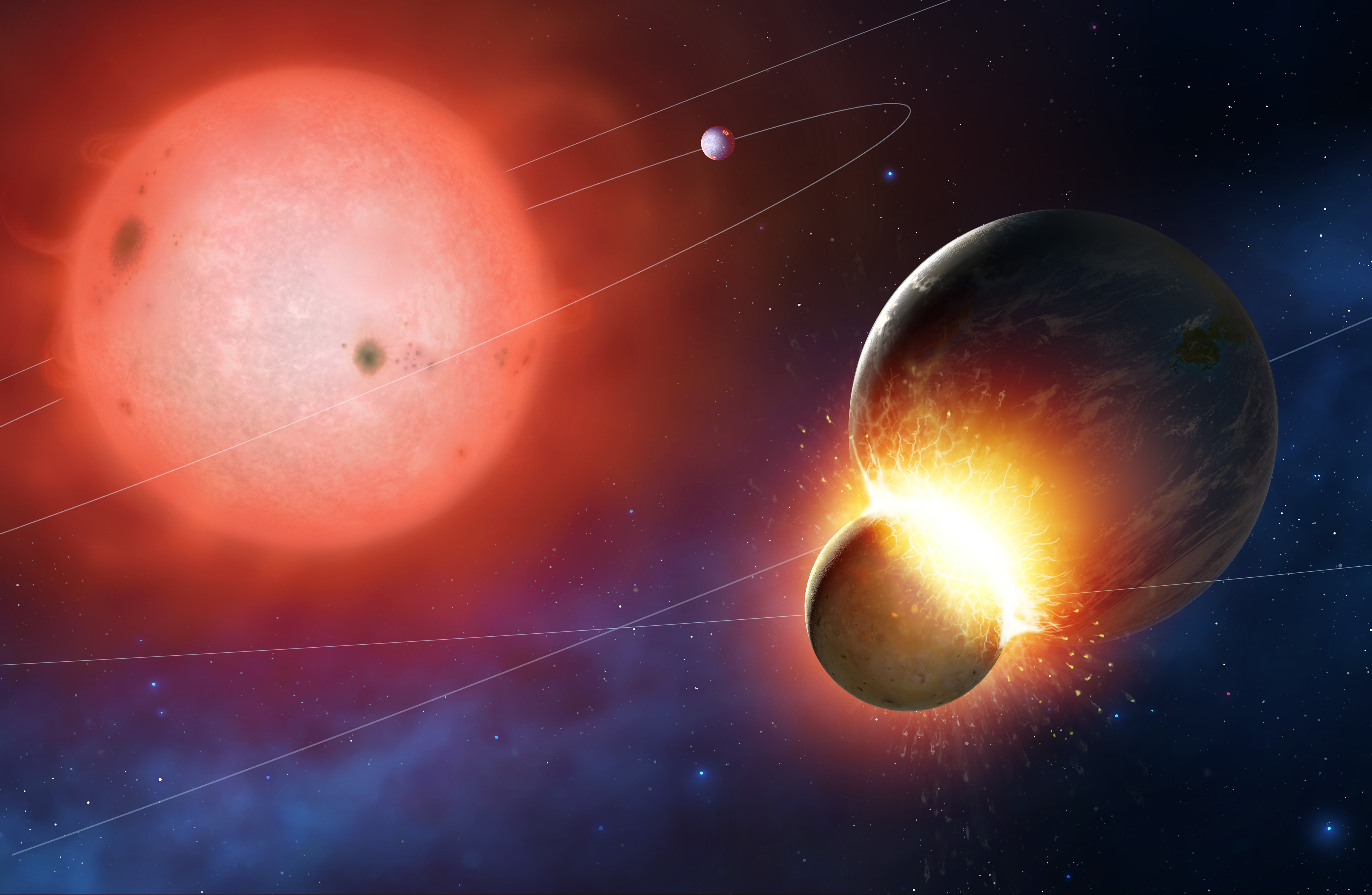 Dying Stars Caught Eating Rocky Alien Planets