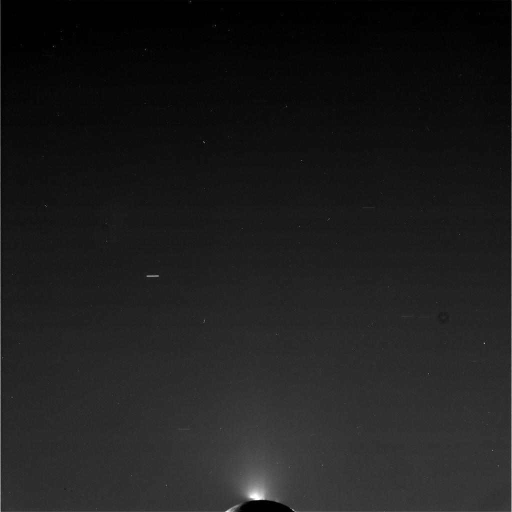 Raw, Unprocessed Image of Enceladus