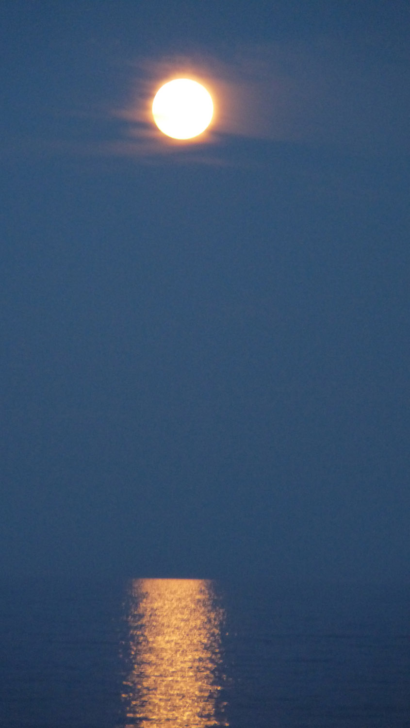 Supermoon 2012 Over Hampton Beach: Uli Creighton