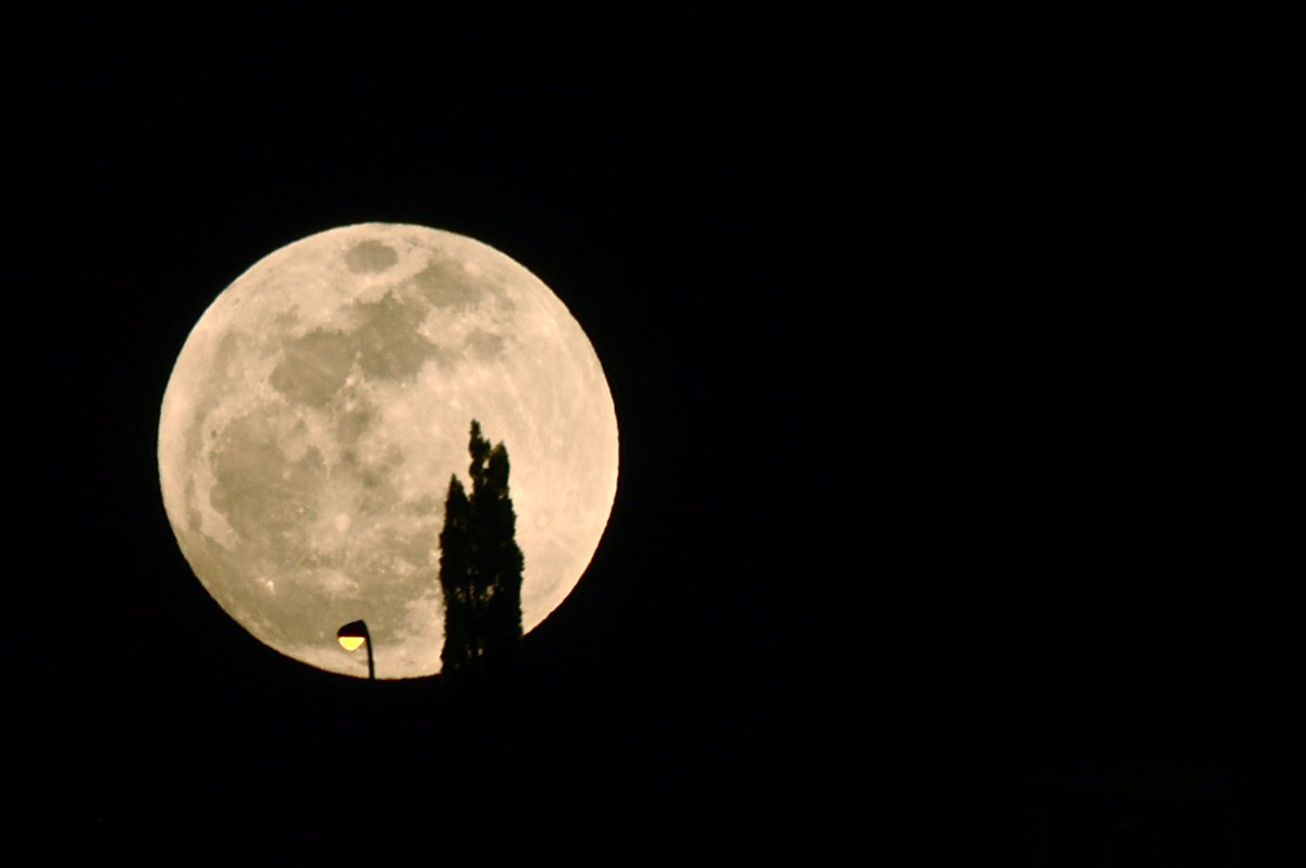 Supermoon over Tenerife