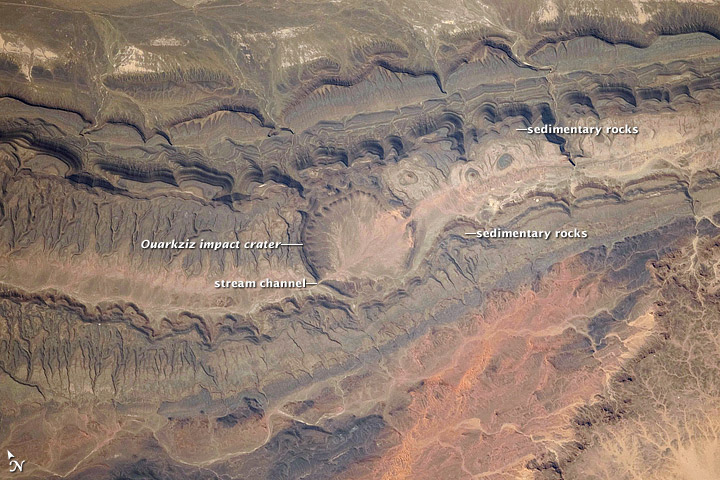 New Astronaut Photo Highlights Impact Crater