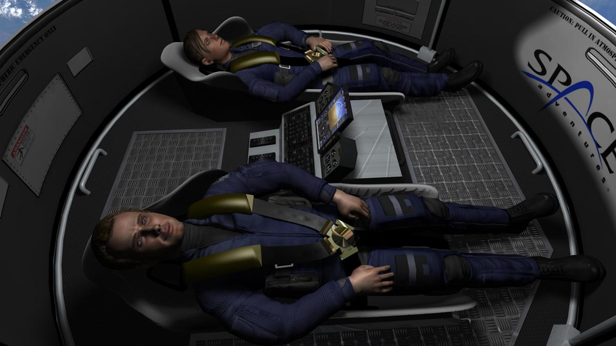 Space Adventures' Suborbital Vehicle Interior 1