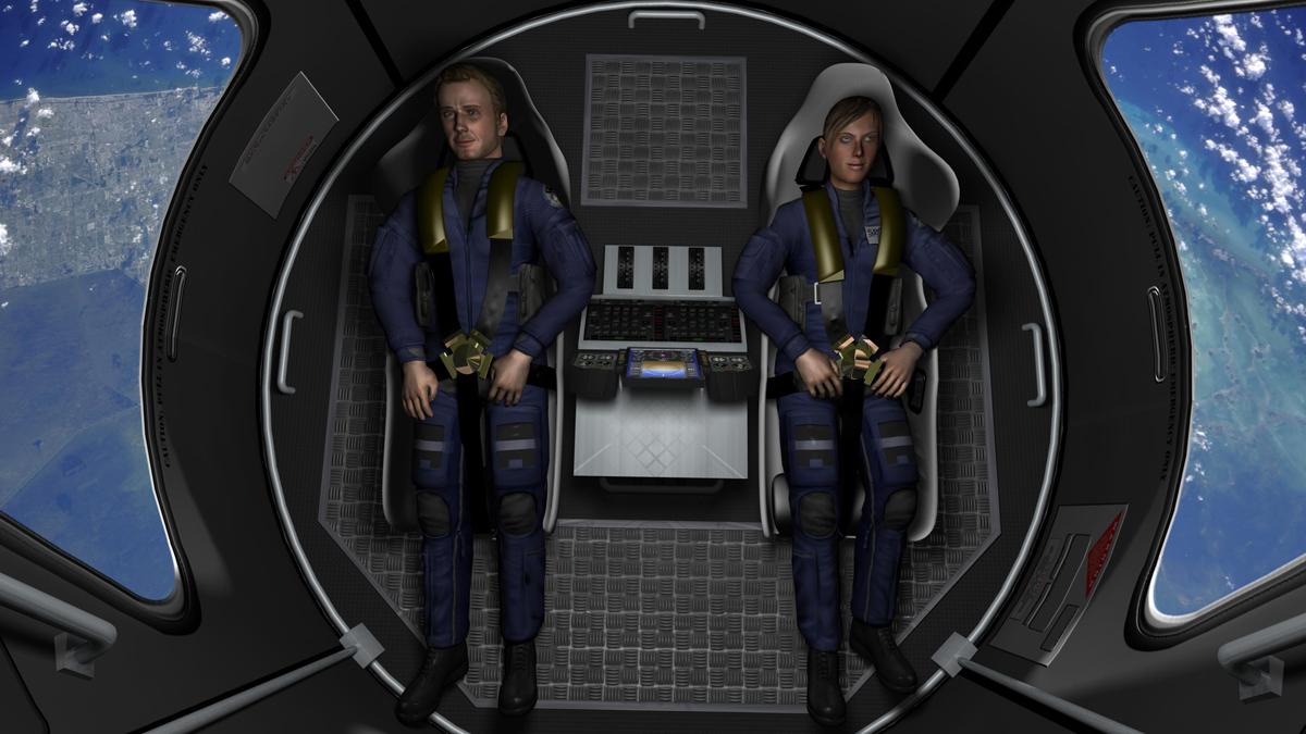 Space Adventures' Suborbital Vehicle Interior 2