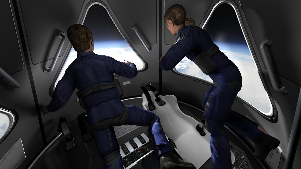 Space Adventures' Suborbital Vehicle Interior 3