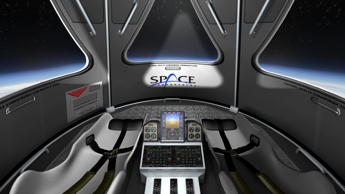 Space Adventures' Suborbital Vehicle Interior 5